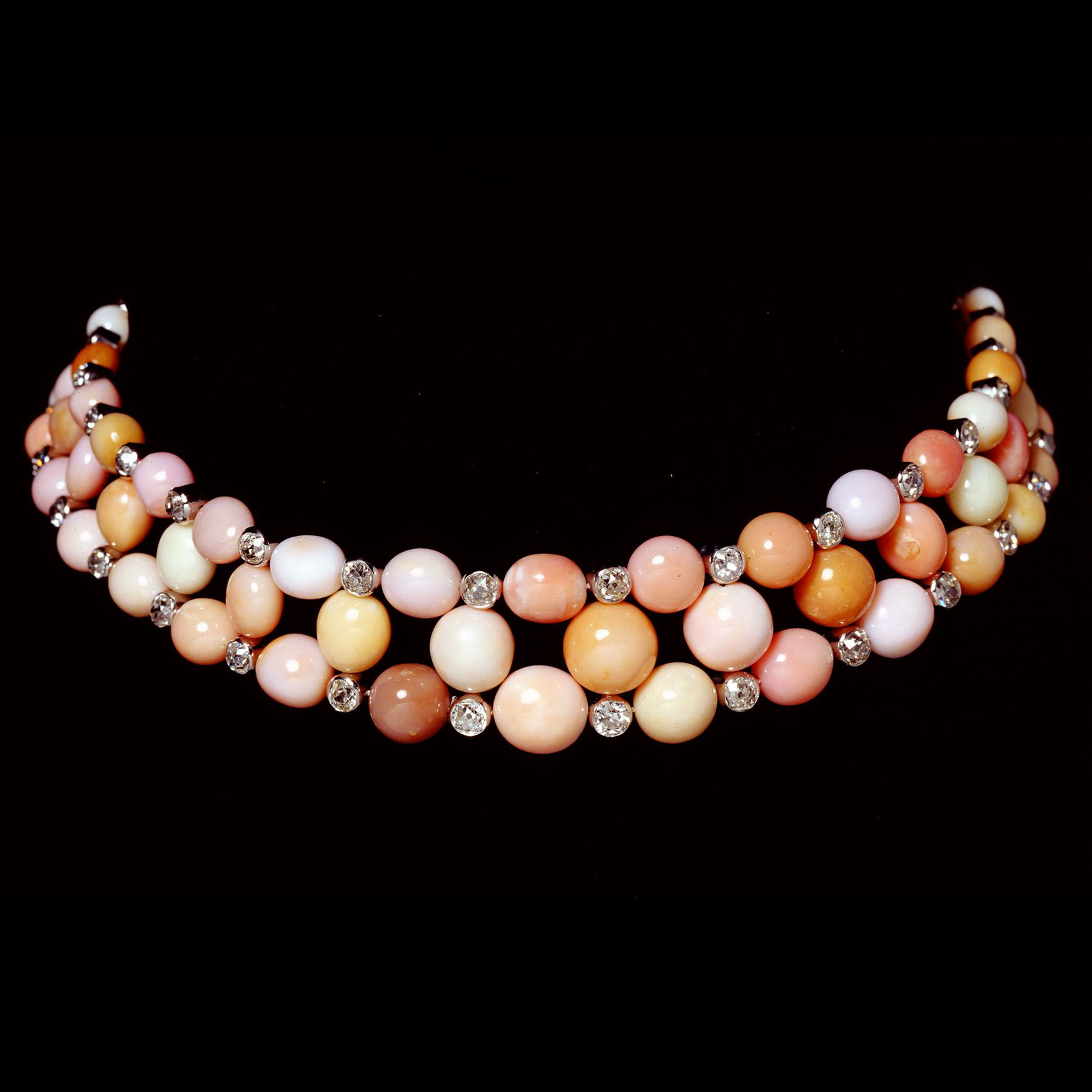 Couch Pearl Choker Faerber Collection Rare Antique Jewellery