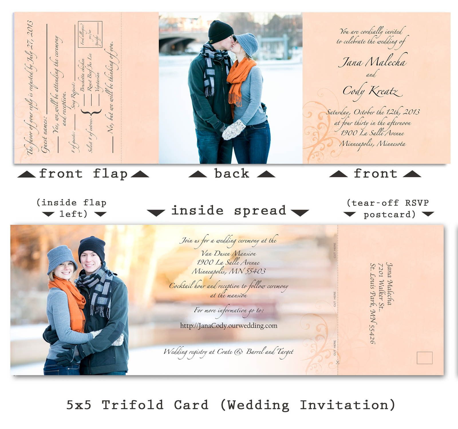 Wedding Invitation With Attached Rsvp Card Wedding Cards Wedding Invitations Wedding Invitation Design