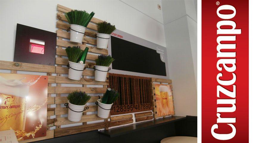 Proyectos #Ipunto #Diseñp #Decoración #Macetas #Cruzcampo #Bares #Retail #Diseño