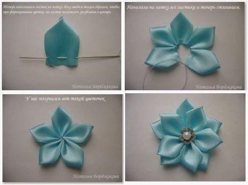 MIS MANUALIDADES: Paso a paso flores de listón | manualidades ...