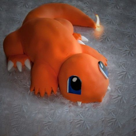 Step by Step Instructions to make a charmander cake #Pokemon ...