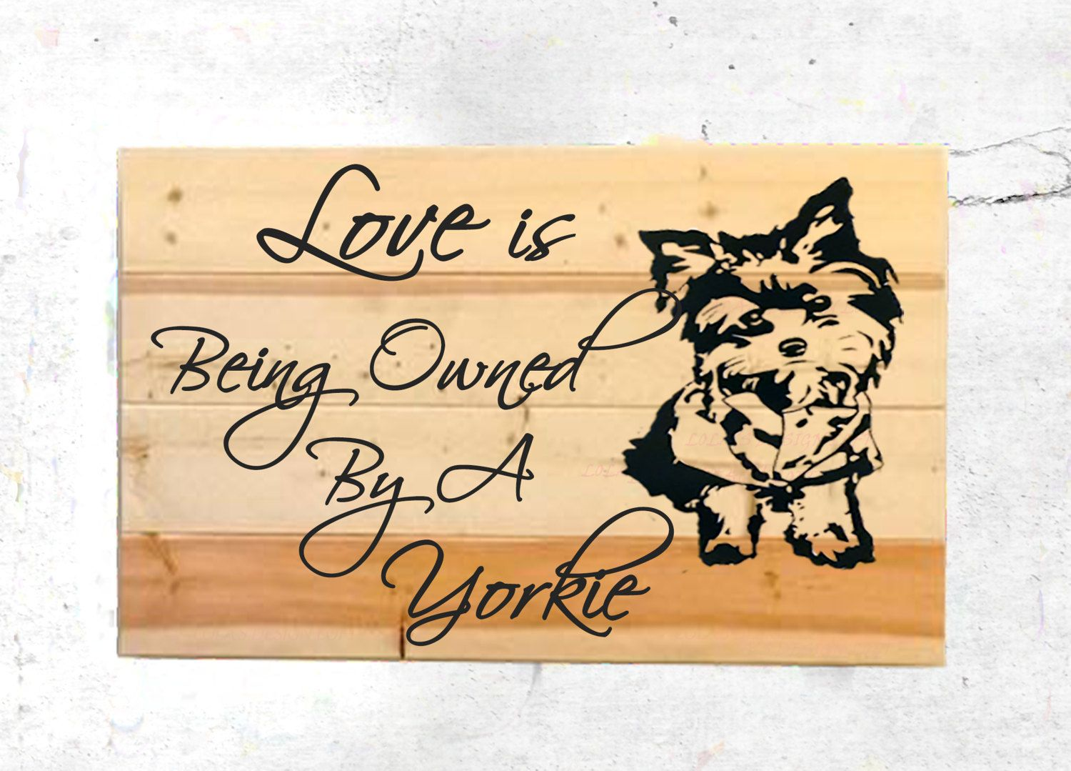 Yorkie Wall Decor - Pet Wall Decor - Dog Wall Art - Yorkie - Rustic ...