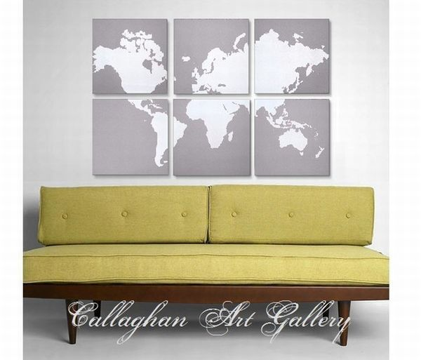 Famous Decorative Wall Maps Of The World Pictures Inspiration ...