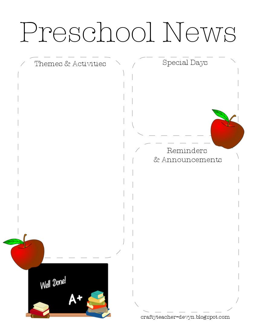 Hello Here Is Another Preschool Newsletter Template ItS