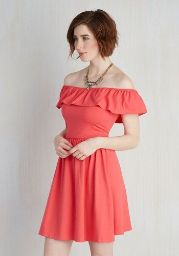 Sweet Claire Inc. A Lively Story Dress in Coral