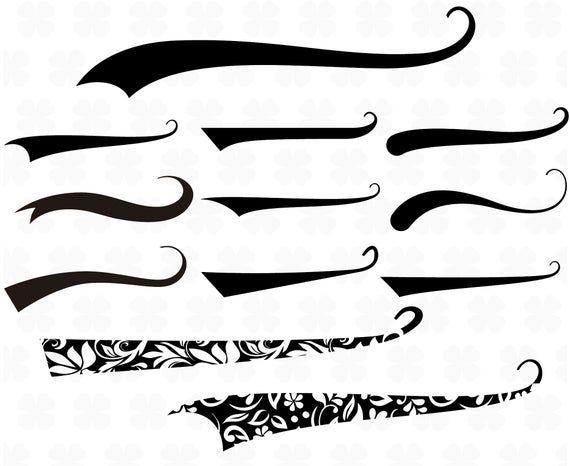 Font tails svg Baseball text tail Baseball font tails svg