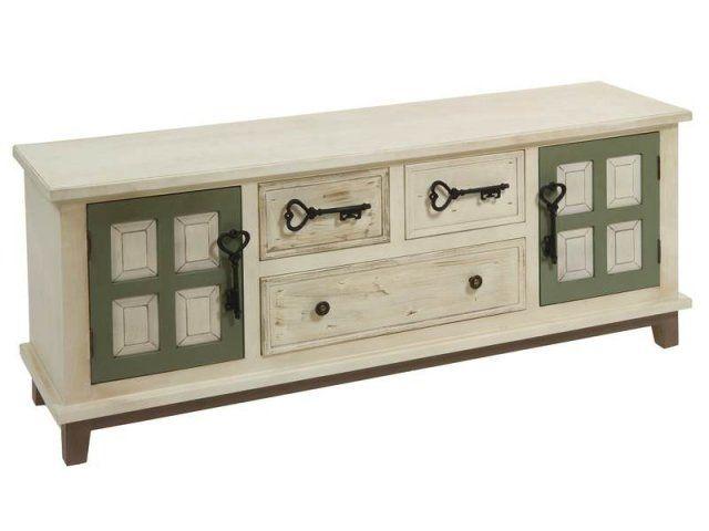 MUEBLE TV LLAVES Material- mdf y madera de pino 2 puertas 3 cajones ...