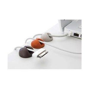 '#OfficeGadgets Wire holders will keep things tidy and safe on your office desk!' Liking the uniformity.