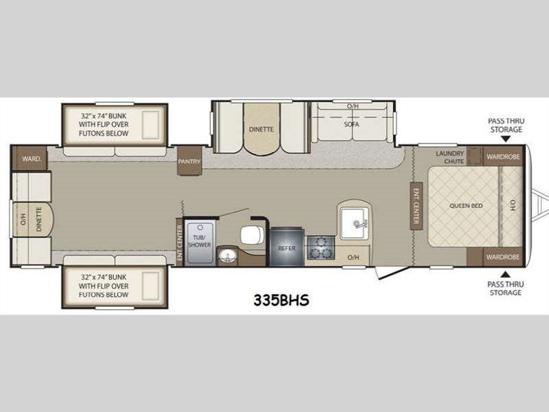 Bullet 335bhs Travel Trailer Rv Floor Plans Travel Trailer Keystone Rv