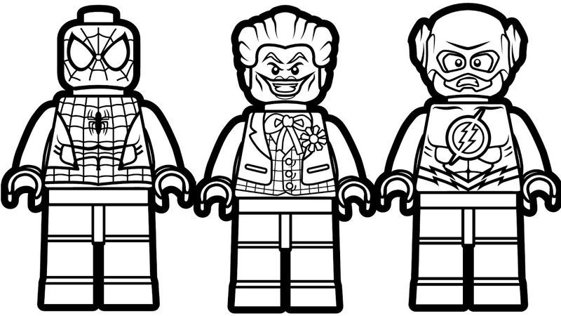 Lego Spiderman Joker Flash Coloring Pages Lego Coloring Pages Lego Movie Coloring Pages Spiderman Coloring