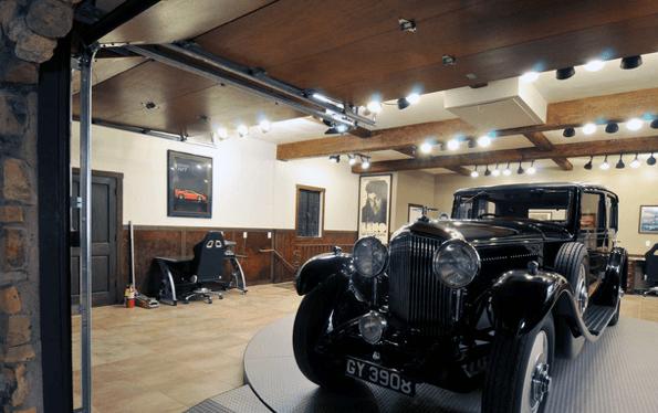 garage track lighting basement