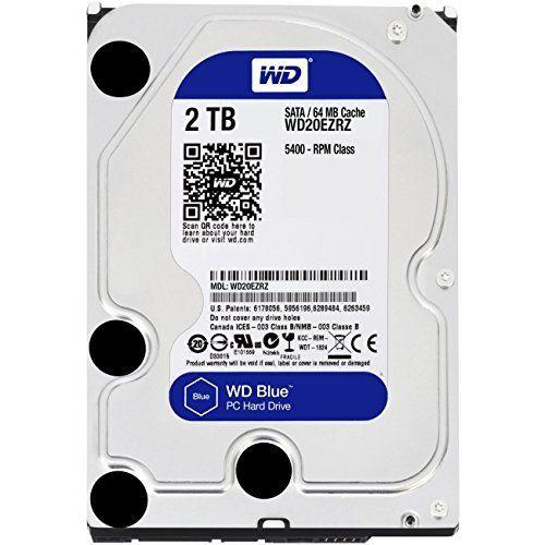Wd Blue 2tb Desktop Hard Disk Drive 5400 Rpm Sata 6 Gb S 64mb Cache 3 5 Inch Wd20ezrz Capacity 2 Tb Form Factor Festplatte Laufwerk Externe Festplatte