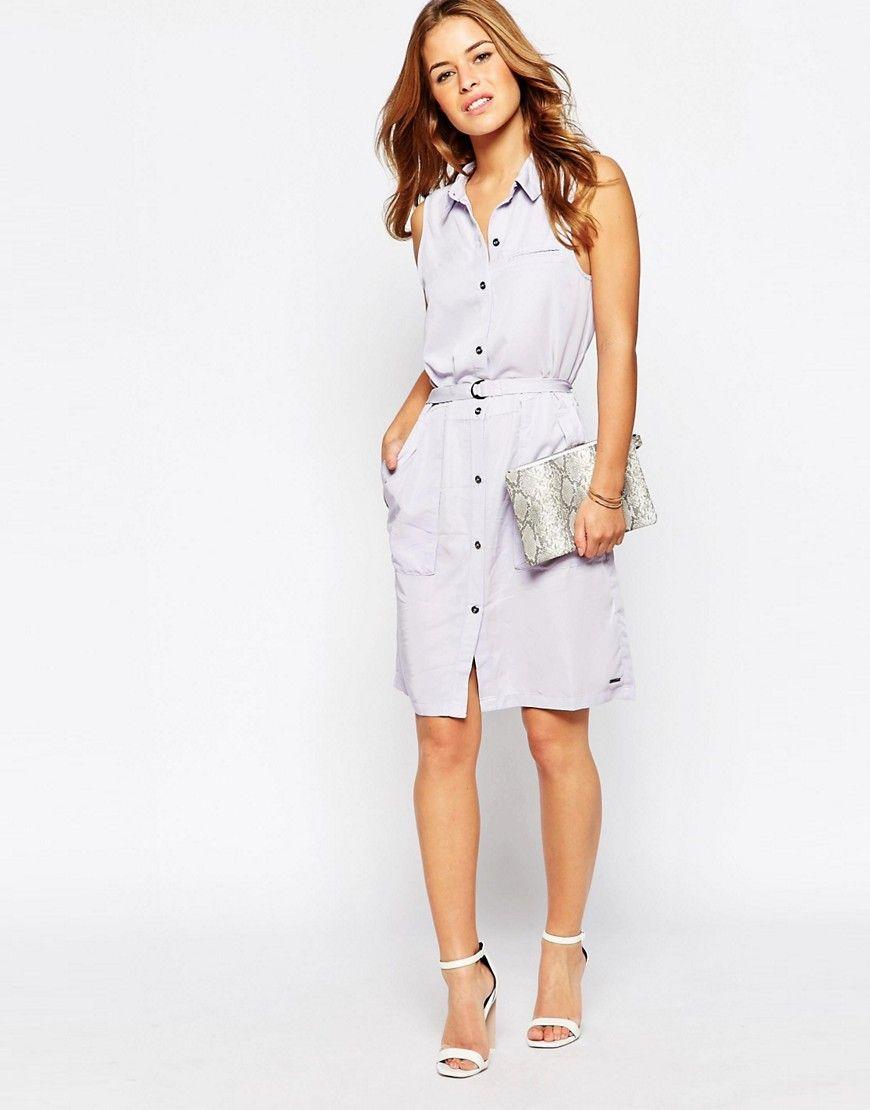 2288e7265506 Vero Moda Petite Sleeveless Shirt Dress