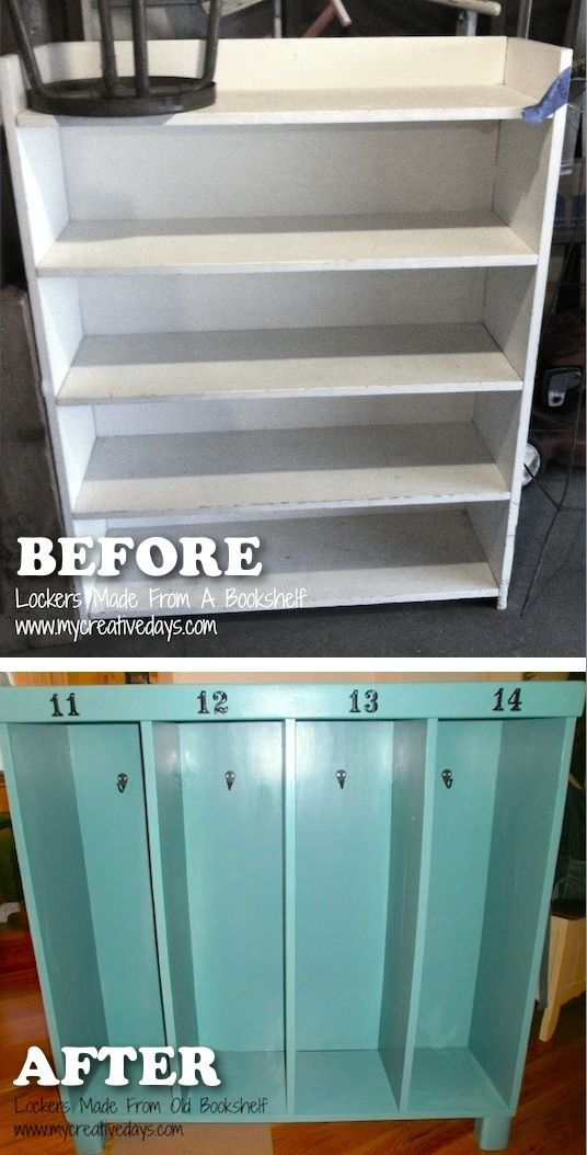 20 Creative Furniture Hacks    Turn An Old Bookshelf Into A Cute %22locker%