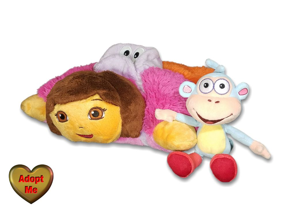 Details about pillow pets peewees dora the explorer ty