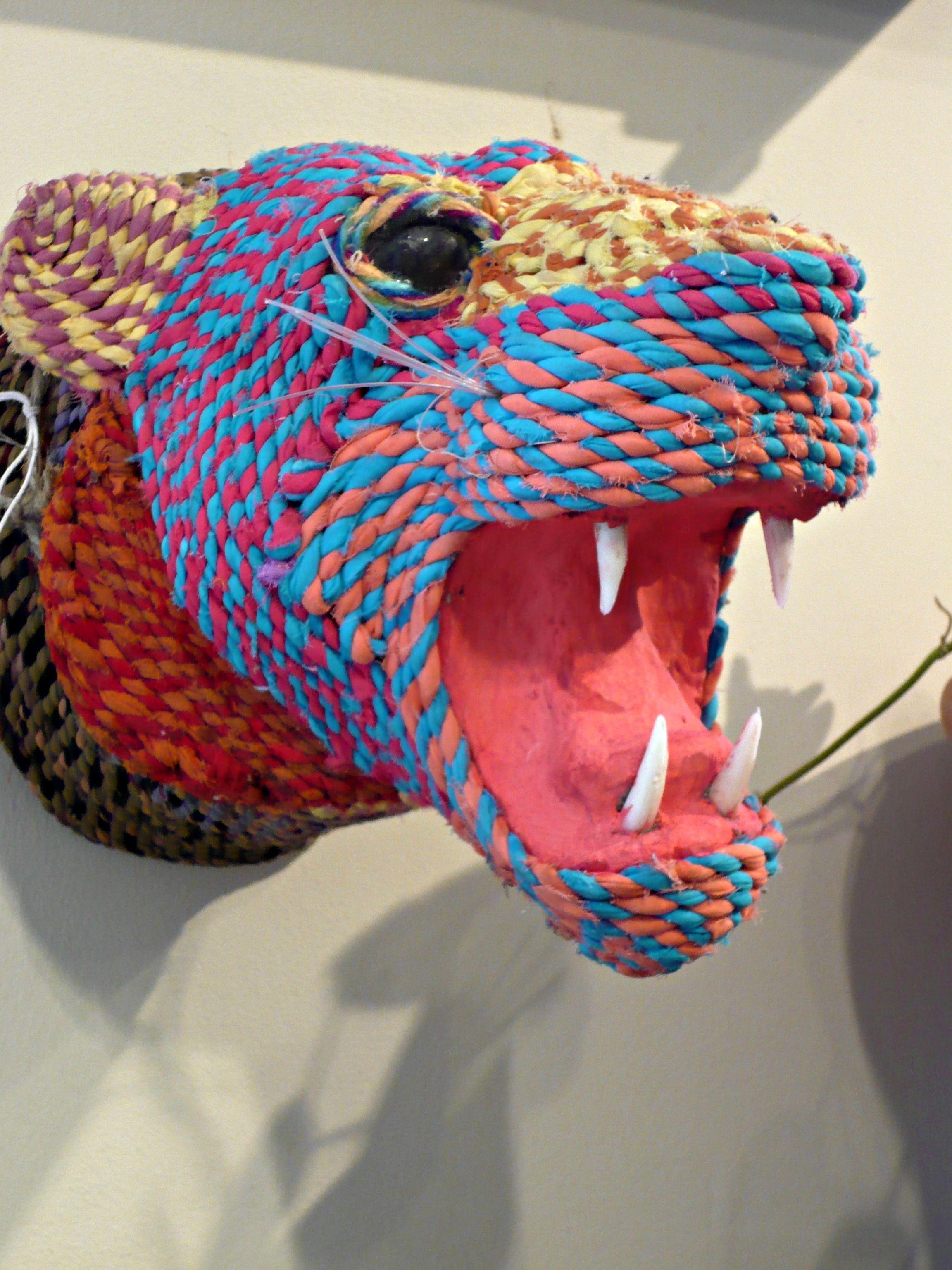 Fabric Tiger Head.