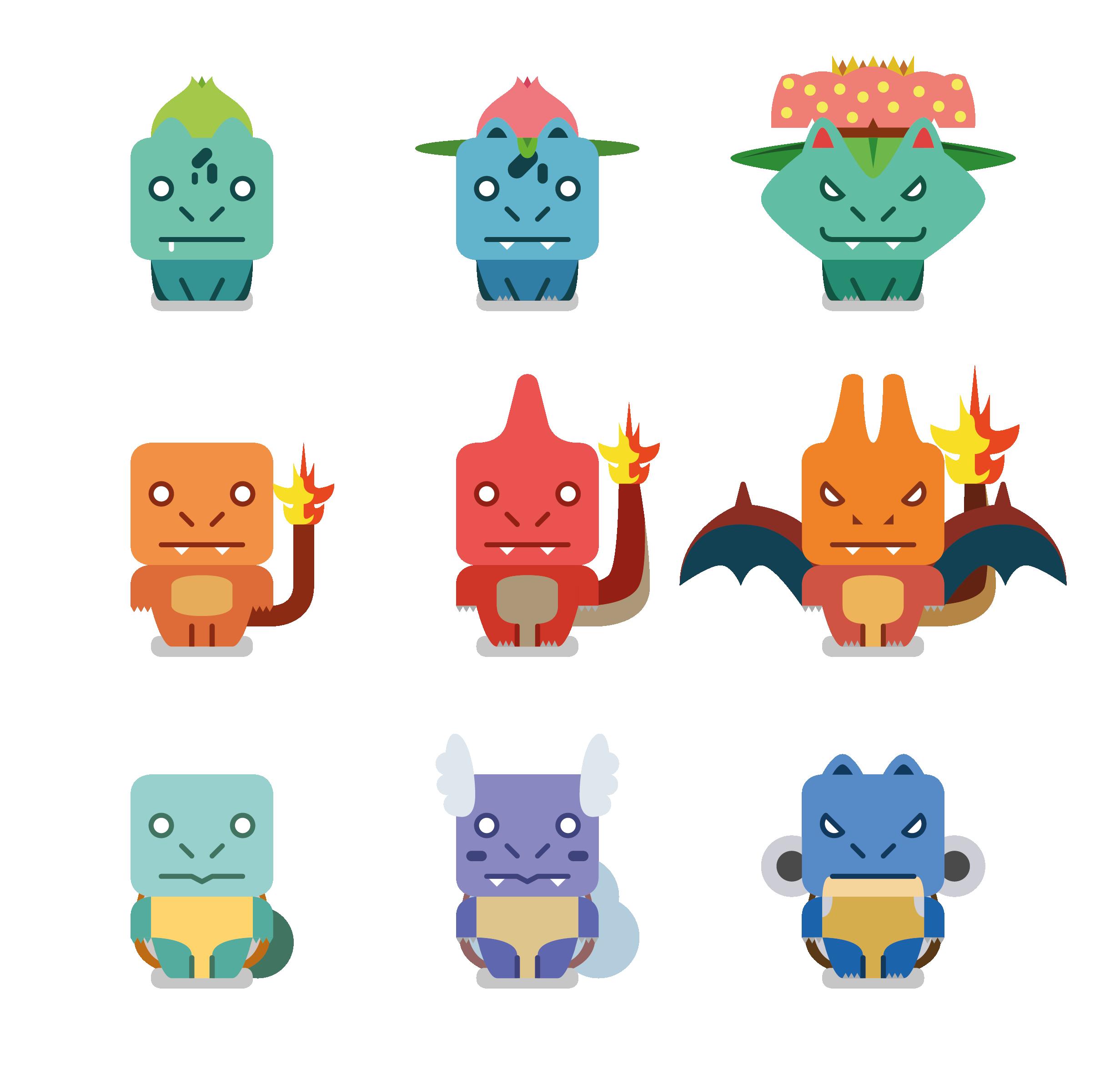 Echa un vistazo a mi proyecto @Behance: \u201cBasic Pokemon\u201d https://www.behance.net/gallery/49895715/Basic-Pokemon