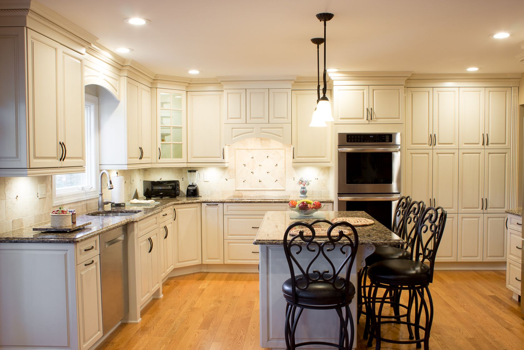 Kitchen Renovation Kitchen Craft Euro Cabinets Maple Marquis Door Drawer Style Finished In Palomino Cambria Can Kitchen Remodel Free Kitchen Design Kitchen