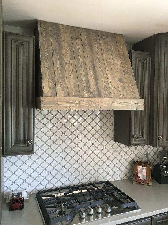 Items similar to rustic wood custom hood vent on etsy