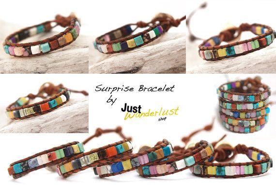 Pack of 3 surprise wrap leather bracelet Mix by JustWanderlustShop