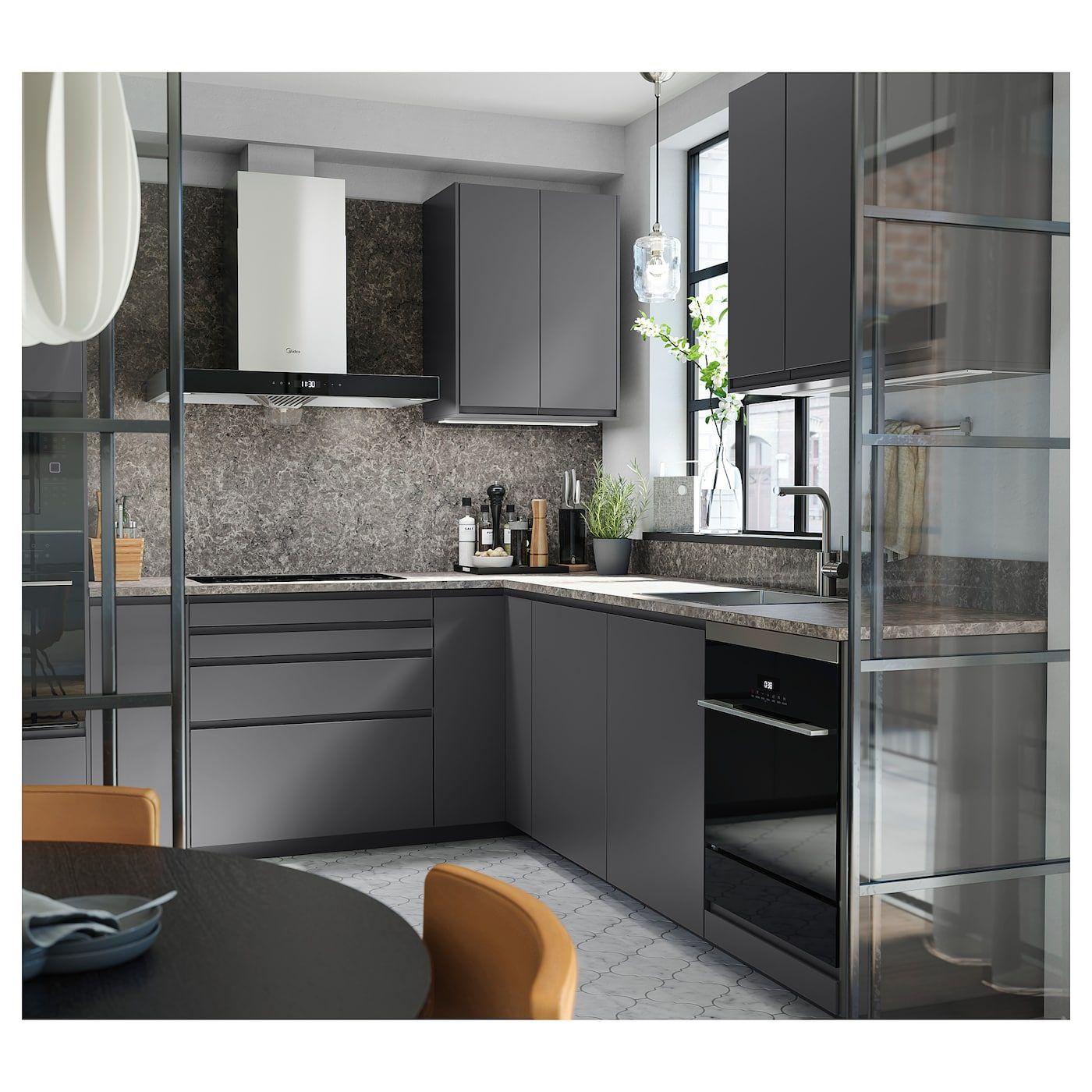 Best Ikea Ekbacken Countertop Dark Gray Marble Effect 400 x 300