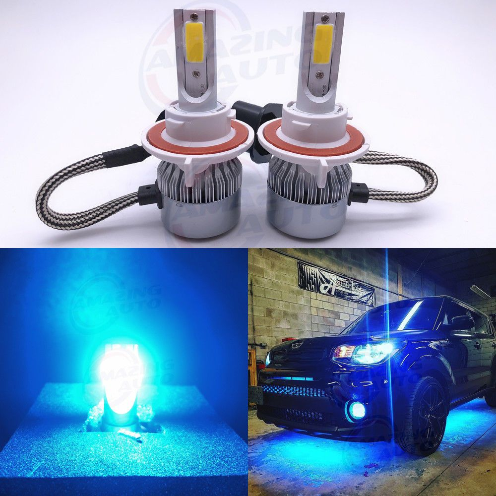 Led Type Cree Led Chip High Power Bulb Size H13 9008 Color Temperature 8000k Ice Blue Beam Type High And Low Beam 360 Beam Angle L Headlight Bulbs Led Headlights Blue Headlights