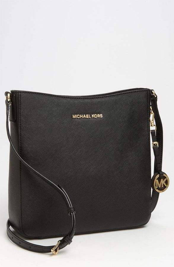 5ab24d4893c6 $228, MICHAEL Michael Kors Michl Michl Kors Jet Set Large Crossbody Bag.  Sold by Nordstrom.