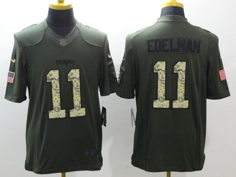 4fb70af3 Football jerseys New England Patriots 11 Julian Edelman Green Salute ...
