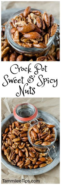 Crock Pot Sweet and Spicy Nuts