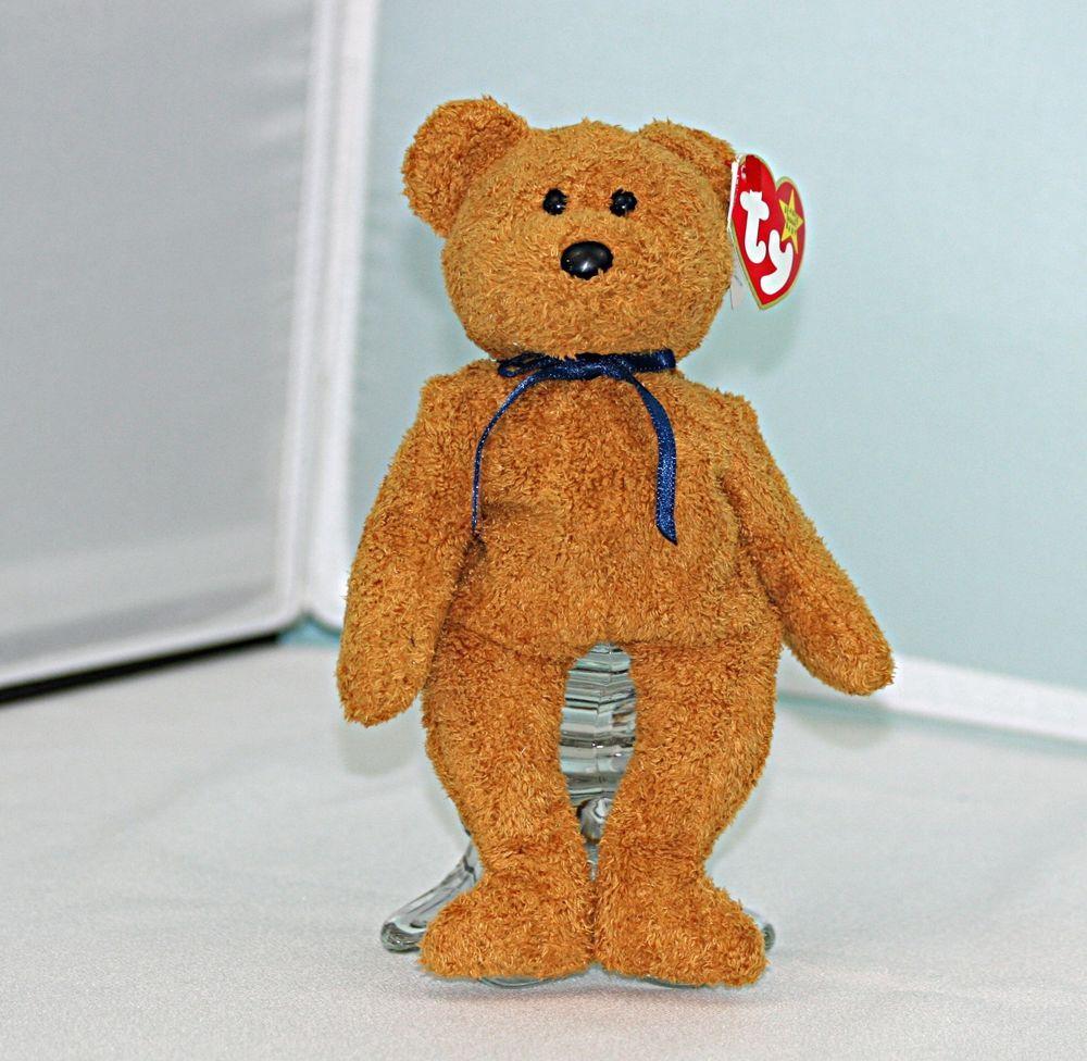 4b5b4ec7376 RARE Fuzz the Brown Bear TY Beanie Baby