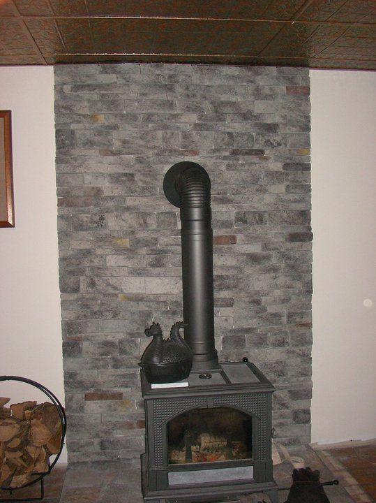 Fake Stone Work Wood Stove Wall Fake Stone Fake Stone Wall