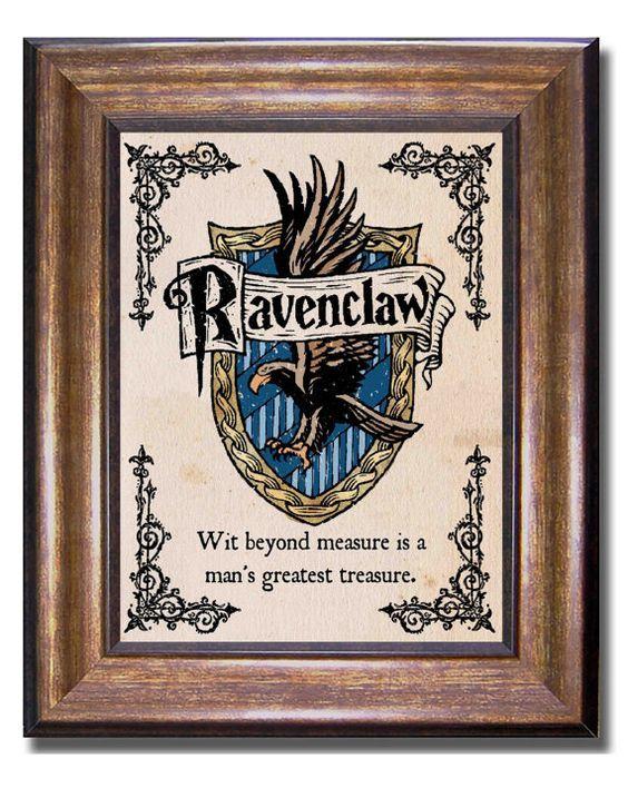 Ravenclaw Haus Wappen Und Motto Harry Potter Von Mychildishthings Ravenclaw Wappen Slytherin
