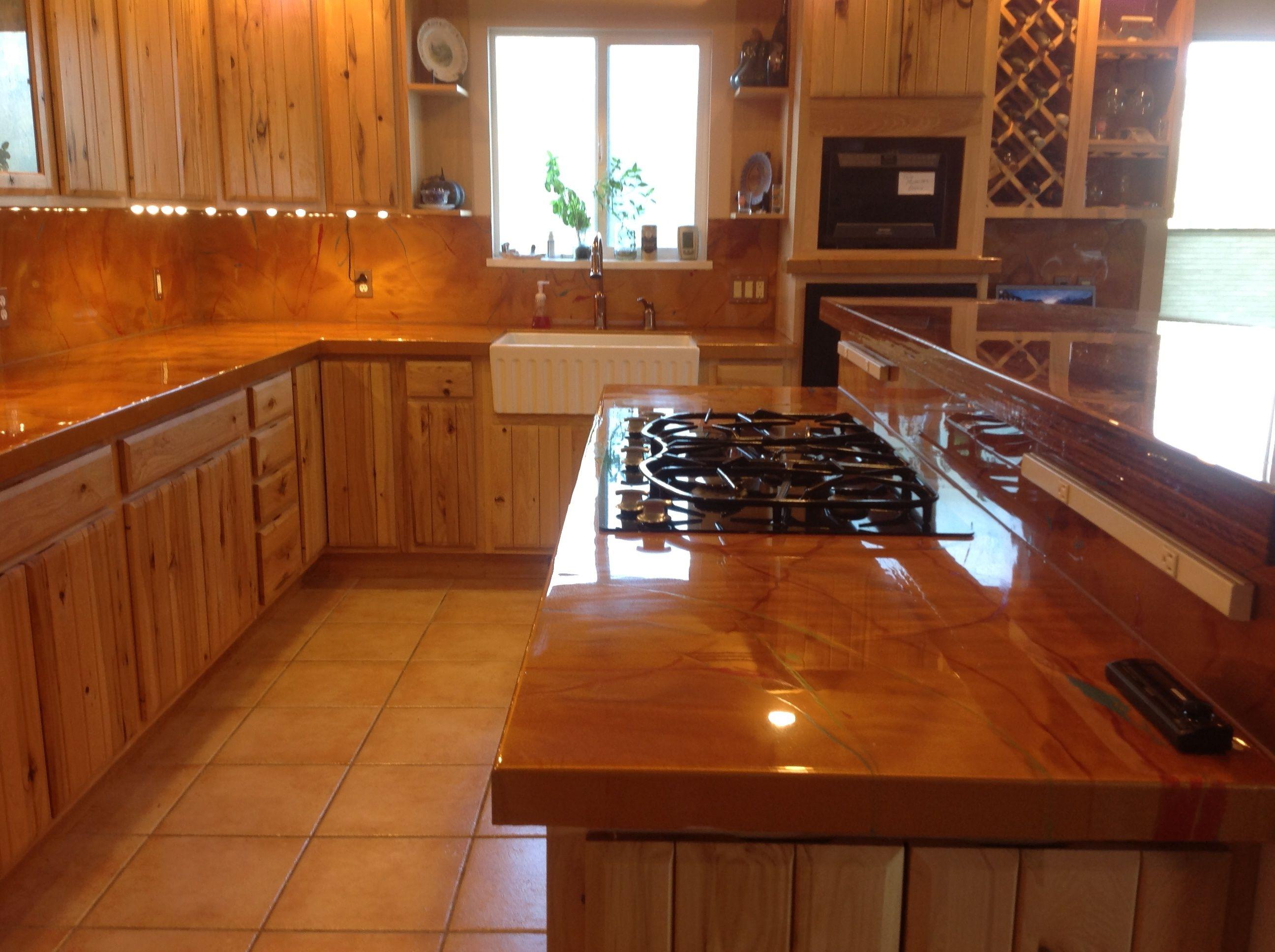Wood Laminate Backsplash