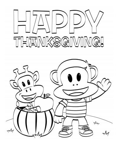 Get ready for Thanksgiving with this Julius Jr. coloring