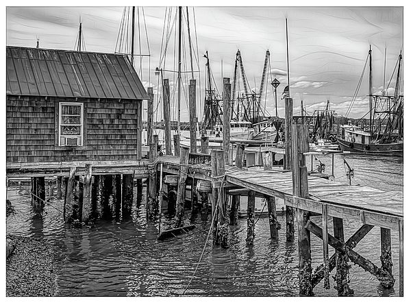 Shrimp Trawlers at Shem Creek Shrimp Trawlers docked at the end of the day in Charleston, South Car