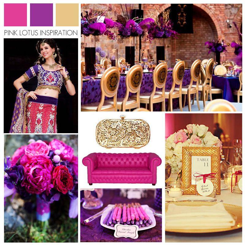 Color Board Pink Purple And Gold Magenta Wedding Wedding