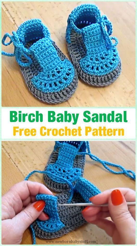 Crochet Baby Booties Crochet Baby Booties Crochet Birch Baby Sandals ...