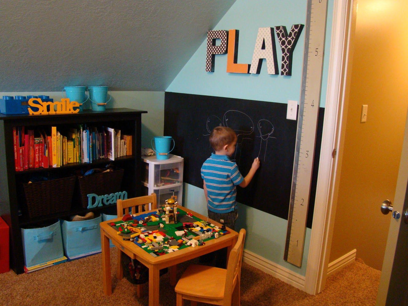 Playroom Wall Decor Chalkboard Kids Toy Room Ideas