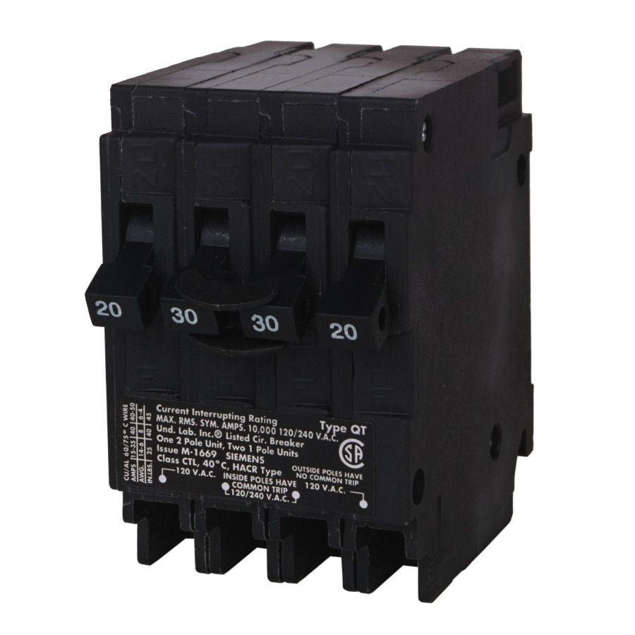 Siemens Qp 20 Amp 2 Pole Quad Circuit Breaker Q22020ct In 2020