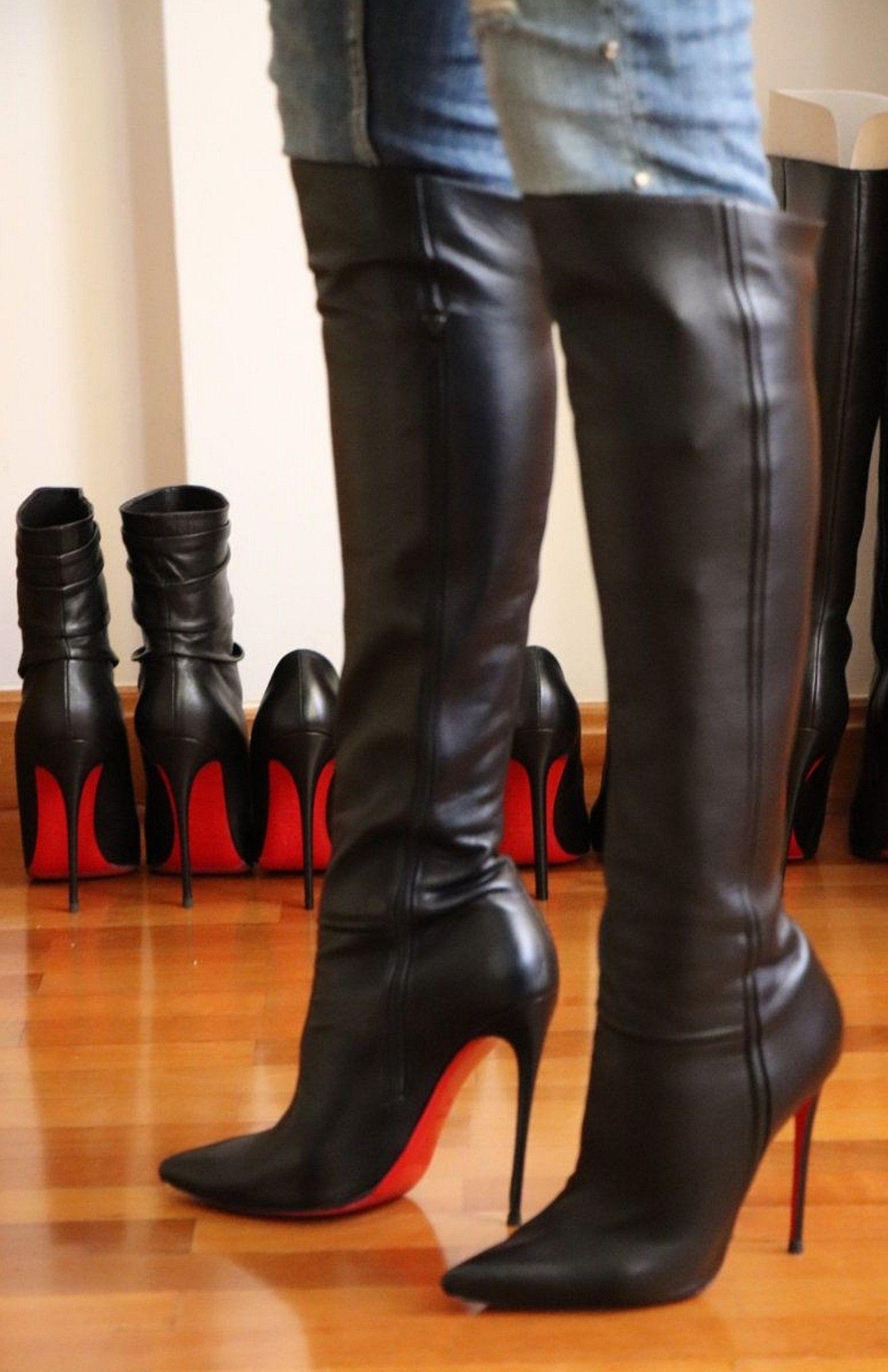 Pin af Skovhulen på Lange støvler   Lange støvler, Støvler