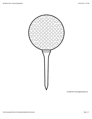 golf balls coloring pages - photo#17