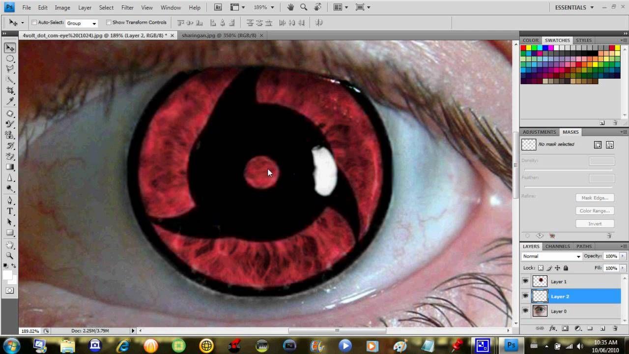 Photoshop Sharingan Tutorial Photoshop Naruto Shippuden Naruto