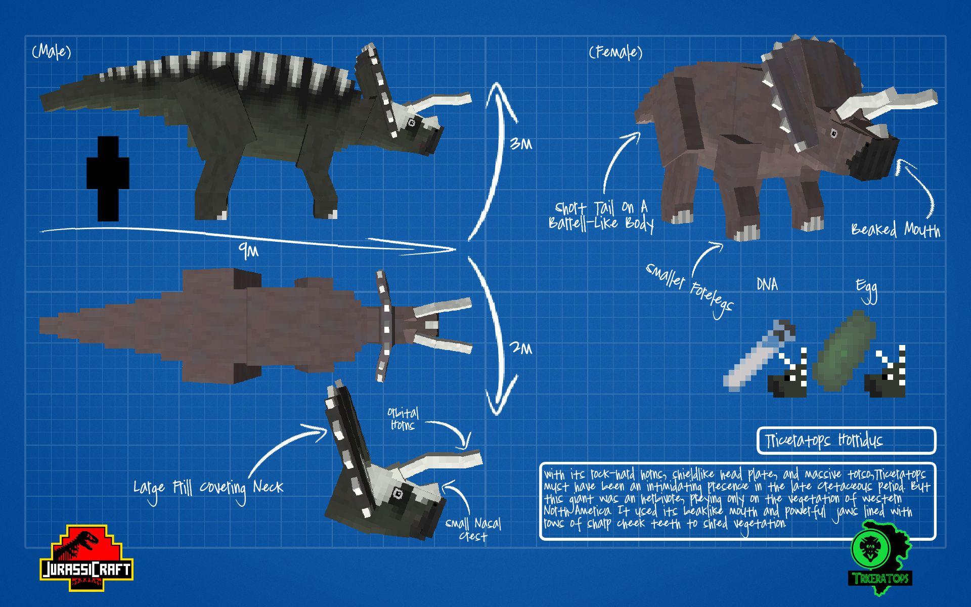 jurassicraft_blueprint____triceratops_by_jurassicraft