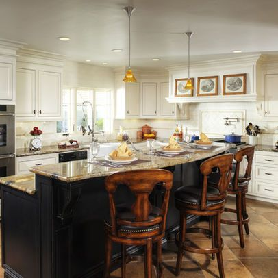 Two Level Kitchen Island This One S Not My Favorite But I Like The Size Sh Kitchen Island Remodel Ideas Traditional Kitchen Design Building Kitchen Cabinets