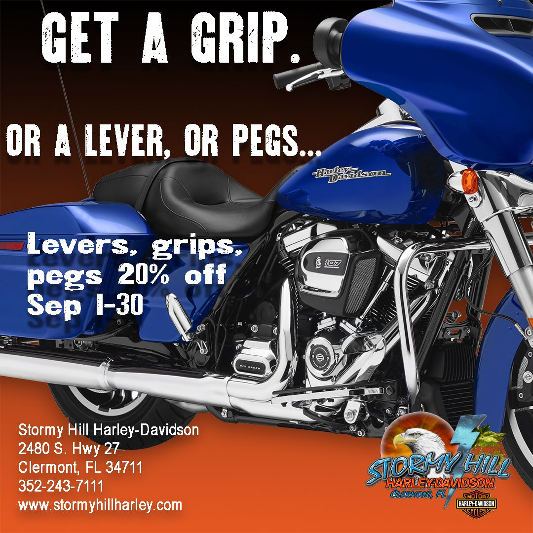 Get some grip, or levers, or pegs for your ride. The month of ...