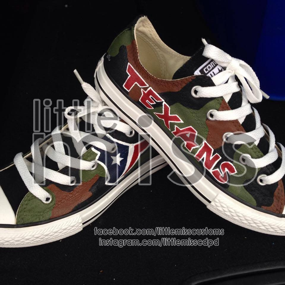 9334a16d3022 Houston Texans Hand Painted Converse by LittleMissCustoms on Etsy ...