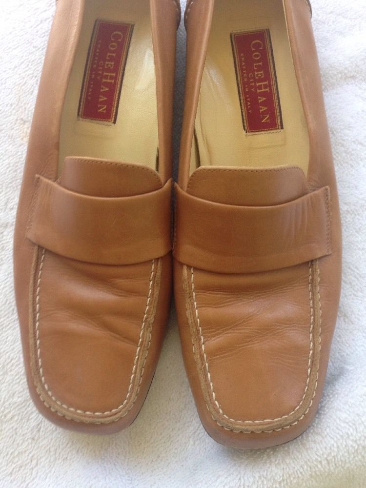 a149258008a Vintage Cole Haan Loafer Slip On With Nike Air Heel Italian Leather Ladies  8B