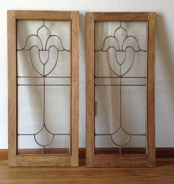 Salvage Kitchen Cabinets: Architectural Salvage Antique Leaded Glass Cabinet Doors