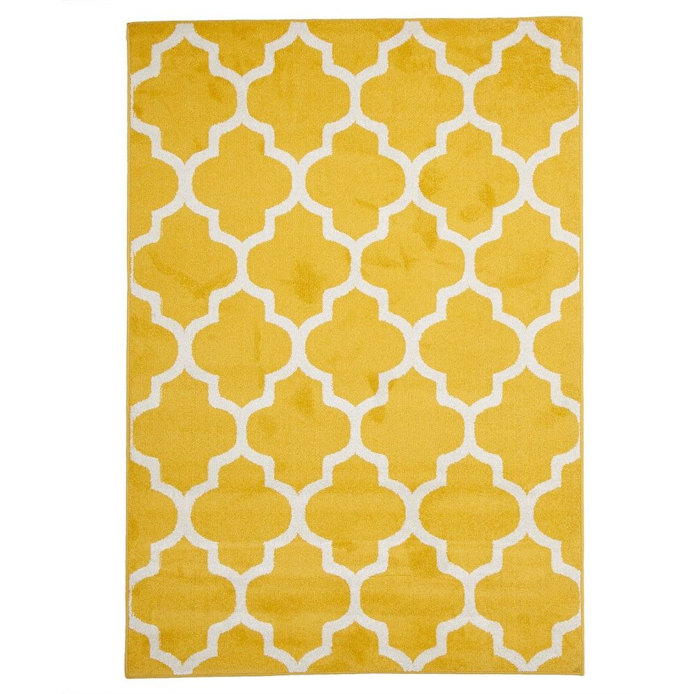 Yellow Tile Indoor Outdoor Rug Inside