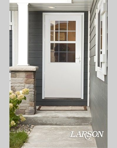 Create a cozy cottage feel for your entrance with details for Full view exterior door